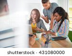 multi ethnic group of succesful ... | Shutterstock . vector #431080000