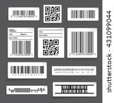 barcode sticker set vector | Shutterstock .eps vector #431099044