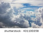 beautiful blue sky with clouds... | Shutterstock . vector #431100358