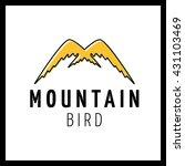 mountains logo design vector... | Shutterstock .eps vector #431103469