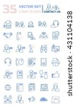 set vector line icons in flat... | Shutterstock .eps vector #431104138