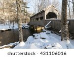 Covered Bridge On Winter Day I...