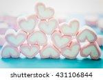 Pink Marshmallow In Heart Shap...