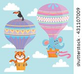 Hot Air Balloons With Animals....