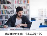 student preparing exam and... | Shutterstock . vector #431109490