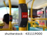 bus stop button for blind and... | Shutterstock . vector #431119000