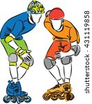 men rollerblade skaters... | Shutterstock .eps vector #431119858