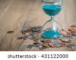deadline and time is money... | Shutterstock . vector #431122000