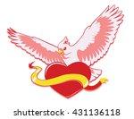 cockatoo on heart vector logo. | Shutterstock .eps vector #431136118