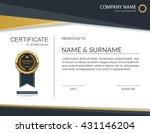 vector certificate template. | Shutterstock .eps vector #431146204