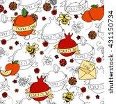 rosh hashanah  jewish new year  ... | Shutterstock .eps vector #431150734