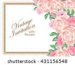 vintage delicate invitation... | Shutterstock .eps vector #431156548