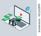 video internet marketing... | Shutterstock .eps vector #431162899