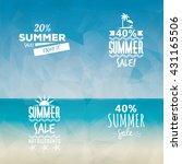 summer sale labels | Shutterstock .eps vector #431165506