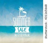 summer sale label | Shutterstock .eps vector #431165668
