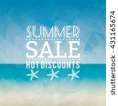 summer sale label | Shutterstock .eps vector #431165674