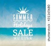 summer sale label | Shutterstock .eps vector #431165680