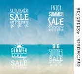 summer sale labels | Shutterstock .eps vector #431165716