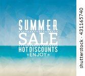 summer sale label   Shutterstock .eps vector #431165740