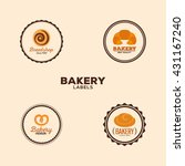 delicious bakery labels | Shutterstock .eps vector #431167240
