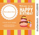 happy birthday card design.... | Shutterstock .eps vector #431168848