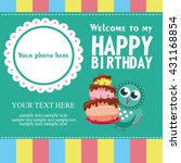 happy birthday card design.... | Shutterstock .eps vector #431168854