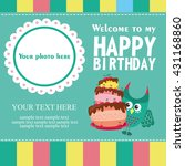 happy birthday card design.... | Shutterstock .eps vector #431168860