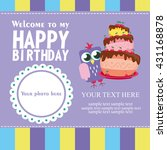 happy birthday card design.... | Shutterstock .eps vector #431168878