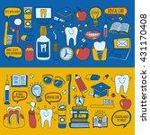 dentistry vector doodle set of... | Shutterstock .eps vector #431170408