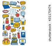 dentistry vector doodle set of...   Shutterstock .eps vector #431170474