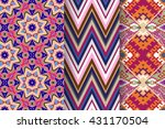 set of 3 abstract patterns.... | Shutterstock .eps vector #431170504