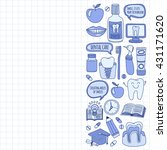 dentistry vector doodle set of...   Shutterstock .eps vector #431171620