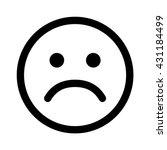 sad smiley face emoticon line... | Shutterstock .eps vector #431184499