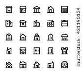 city elements vector icons 1 | Shutterstock .eps vector #431190124