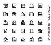 city elements vector icons 1 | Shutterstock .eps vector #431190124