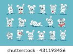 set vector stock illustrations... | Shutterstock .eps vector #431193436