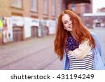 Smiling Cute Young Woman With...