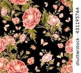 seamless watercolor pattern... | Shutterstock . vector #431195764