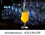 cocktail melon decorated with...   Shutterstock . vector #431196199