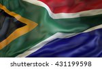 south african flag waving in... | Shutterstock . vector #431199598