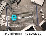 e commerce concept with... | Shutterstock . vector #431202310