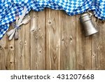 rustic background for... | Shutterstock . vector #431207668