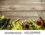 wine bottles with grapes ... | Shutterstock . vector #431209909