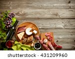 wine bottles with grapes ... | Shutterstock . vector #431209960