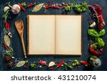 herbs and spices with a...   Shutterstock . vector #431210074