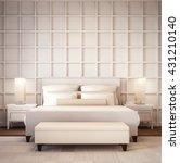 simple and luxury bedroom hotel ... | Shutterstock . vector #431210140