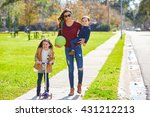 mother daughter and son family... | Shutterstock . vector #431212213
