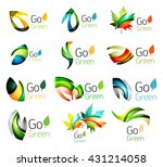 green nature leaf vector... | Shutterstock .eps vector #431214058