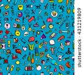 fitness seamless pattern ... | Shutterstock .eps vector #431219809