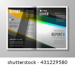 brochure template  flyer design ... | Shutterstock . vector #431229580